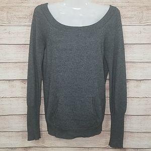 BCBGMAXAZRIA 70%Silk 30%Cashmere shoulder sweater